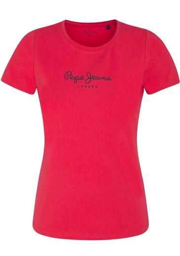 Pepe Jeans T-Shirt »VIRGINIA NEW« in Sommerfarben mit angesagtem Logo-Print