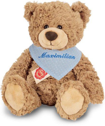 Teddy Hermann® Kuscheltier »Teddy hellbraun mit blauem Halstuch, 30 cm«, mit individueller Bestickung