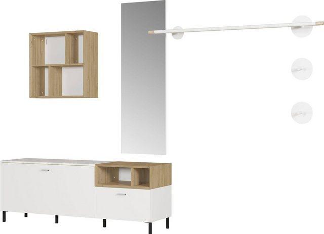 Garderoben Sets - SCHÖNER WOHNEN Kollektion Garderobe »Coruna«, (7 tlg)  - Onlineshop OTTO
