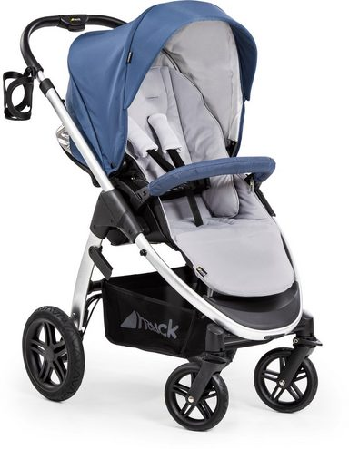 Hauck Sportbuggy »Saturn R, denim silver«, inkl. Beindecke