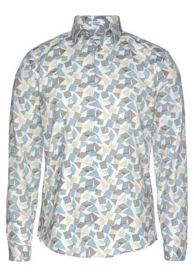 LINDBERGH Langarmhemd mit Grafikmuster