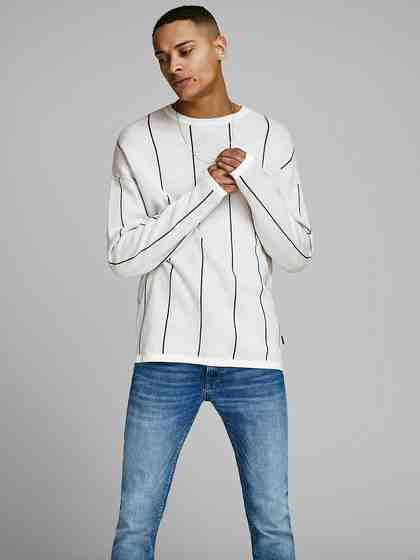 Jack & Jones Gestreifter Strickpullover