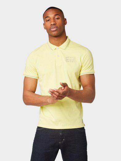 TOM TAILOR T-Shirt »Poloshirt mit Stickerei«