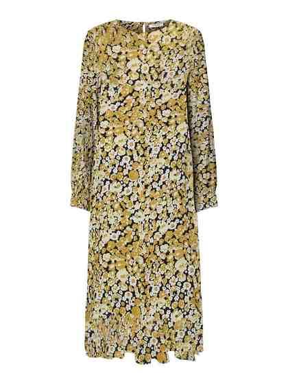 Pieces Floral bedrucktes Midi Kleid