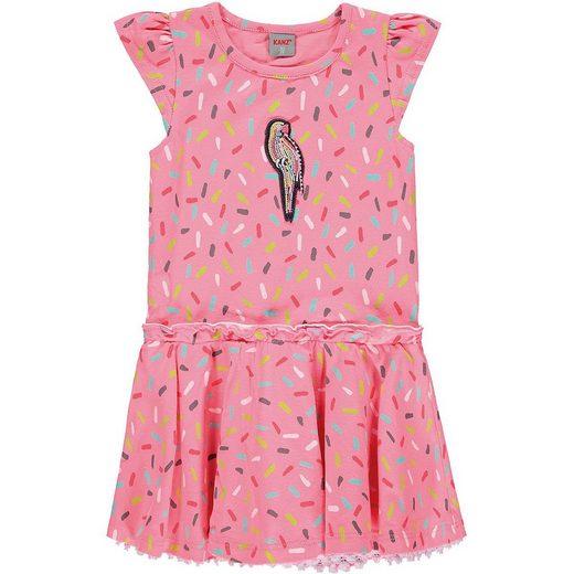 Kanz Jerseykleid »Kinder Jerseykleid Papagei mit Stickerei«