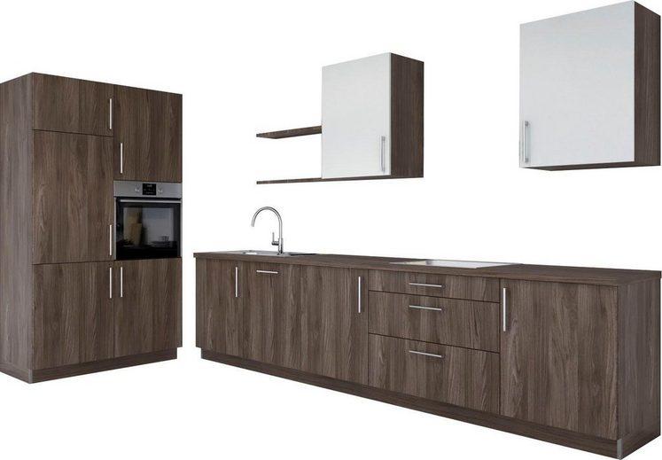 set one by Musterring Küchenzeile mit Geräten »Navaro«, Breite 331 cm + 120 cm, rechts, vormontiert