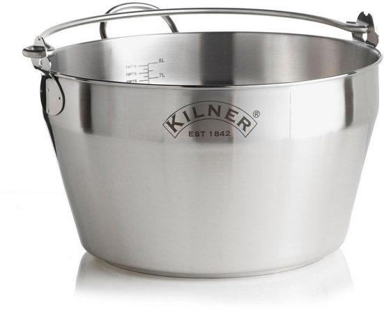 KILNER Einkochtopf, Edelstahl, 8 Liter, Induktion