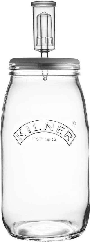 KILNER Fermentationsglas, Glas, Silikon, Keramik, (1-tlg), zum Fermentieren, 3 Liter, mit Rezeptbuch