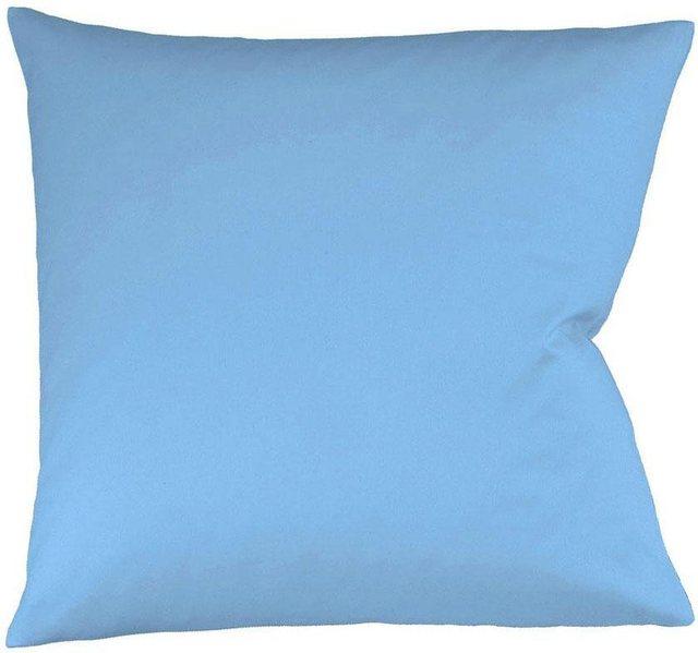 Kissenbezüge »Colours«, fleuresse, aus feinstem Mako-Satin (2Stück) | Heimtextilien > Decken und Kissen > Kissen | Blau | Baumwolle | fleuresse