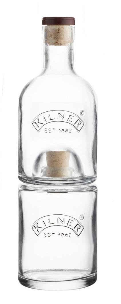 KILNER Einmachglas, Glas, Kork, (Set, 2-tlg., 1 x 330 ml, 1 x 350 ml), platzsparend stapelbar