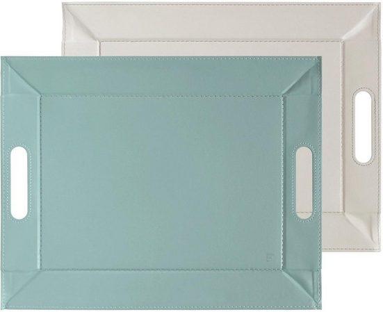 freeform Tablett, Kunstleder, 45 x 35 cm