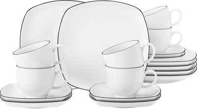 Seltmann Weiden Kaffeeservice »Lido« (18-tlg), Porzellan