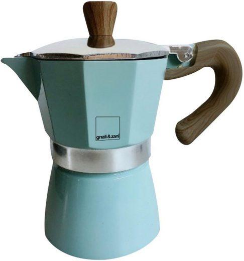 gnali & zani Espressokocher Venezia, Induktion, blau