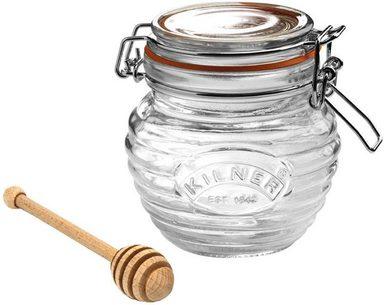 KILNER Honigglas, Glas, inkl. Honigportionierer