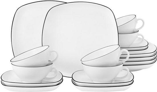 Seltmann Weiden Teeservice »Lido« (18-tlg), Porzellan, 140 ml