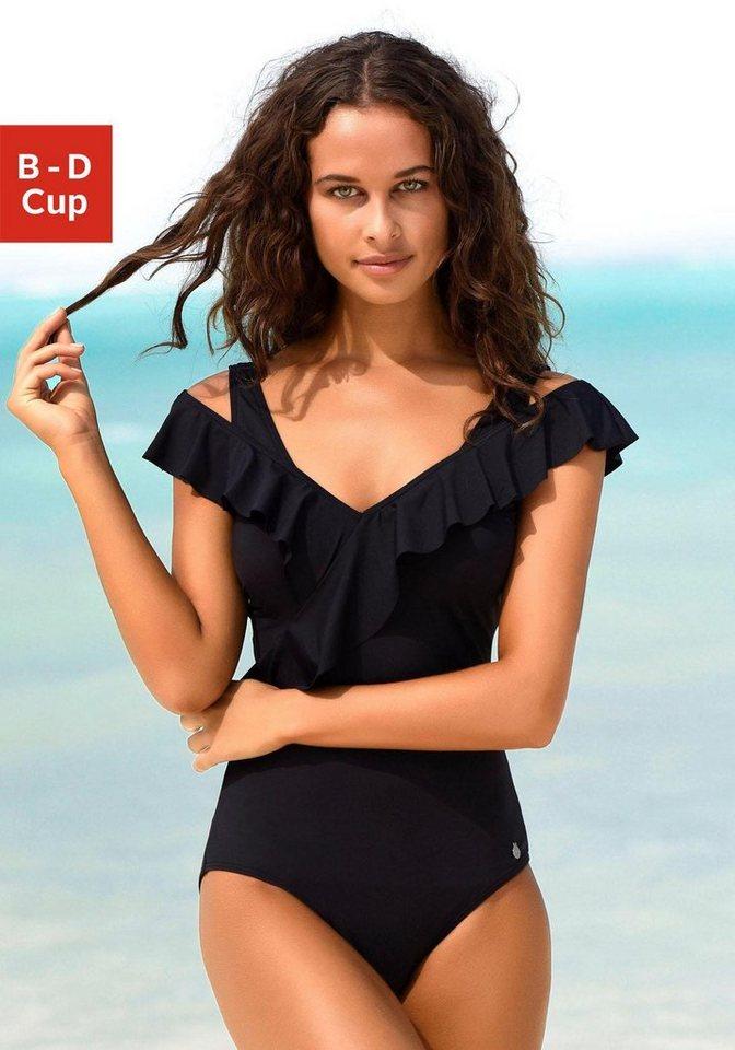 c4b68a98f37c96 LASCANA Badeanzug, in Off-shoulder-Form und mit Volants online ...
