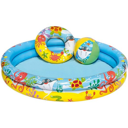 Bestway Play Pool Set 3-teilig 122x20 cm, Planschbecken Set