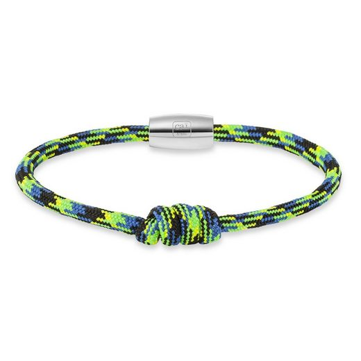 CAÏ Armband »Edelstahl Nylon-Paracord mehrfarbig 20cm«