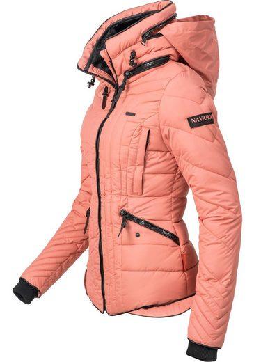 Navahoo Steppjacke »Nimmersatt« modische Winter Jacke für Damen mit feiner Steppung