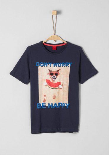 s.Oliver Junior T-Shirt mit Print und Statement für Jungen