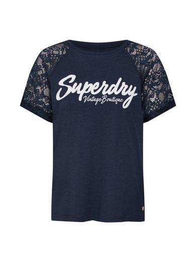 Superdry Spitzenshirt »Madeline« Spitze