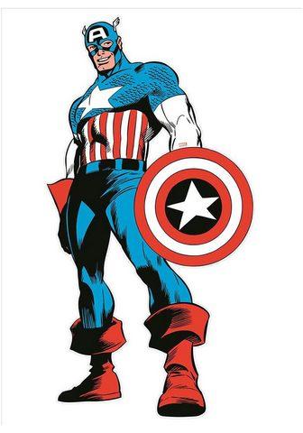 MARVEL Wandtattoo »Comics - Maxi Captain Amer...