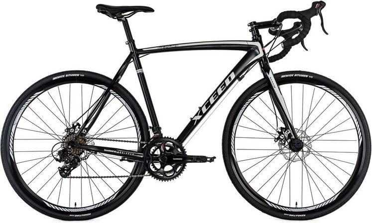 KS Cycling Gravelbike »Xceed«, 14 Gang Shimano Tourney Schaltwerk, Kettenschaltung