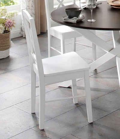 Home affaire Esszimmerstuhl »Sonoma« (Set, 2 Stück), aus massivem Kiefernholzgestell, angenehmer Sitzkomfort, Sitzhöhe 47 cm