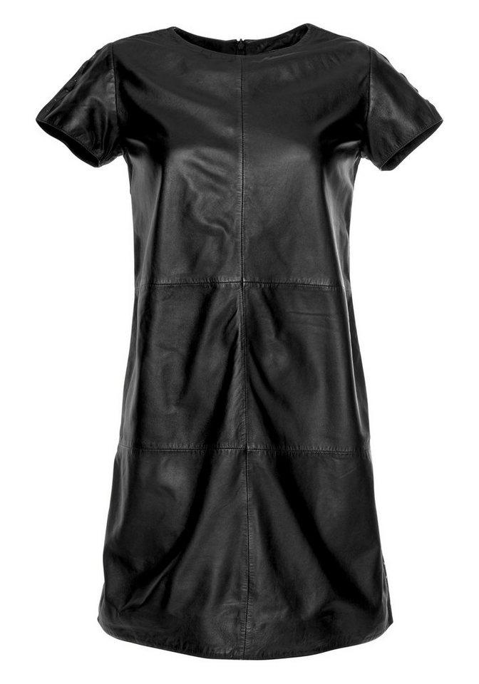 gipsy -  Abendkleid »AGDA LN« aus echtem Leder mit seitlicher Nietenbordüre