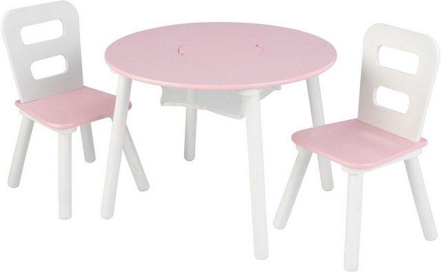 Sitzmöbel - KidKraft® Kindersitzgruppe »Runder Aufbewahrungstisch«, (3 tlg)  - Onlineshop OTTO