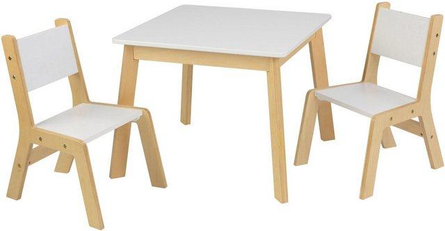 Sitzmöbel - KidKraft® Kindersitzgruppe »Moderner Tisch mit 2 Stühlen«, (3 tlg)  - Onlineshop OTTO