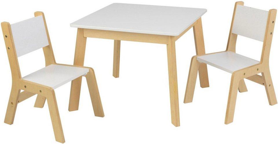 KidKraft Kindersitzgruppe Moderner Tisch Mit 2 Stühlen