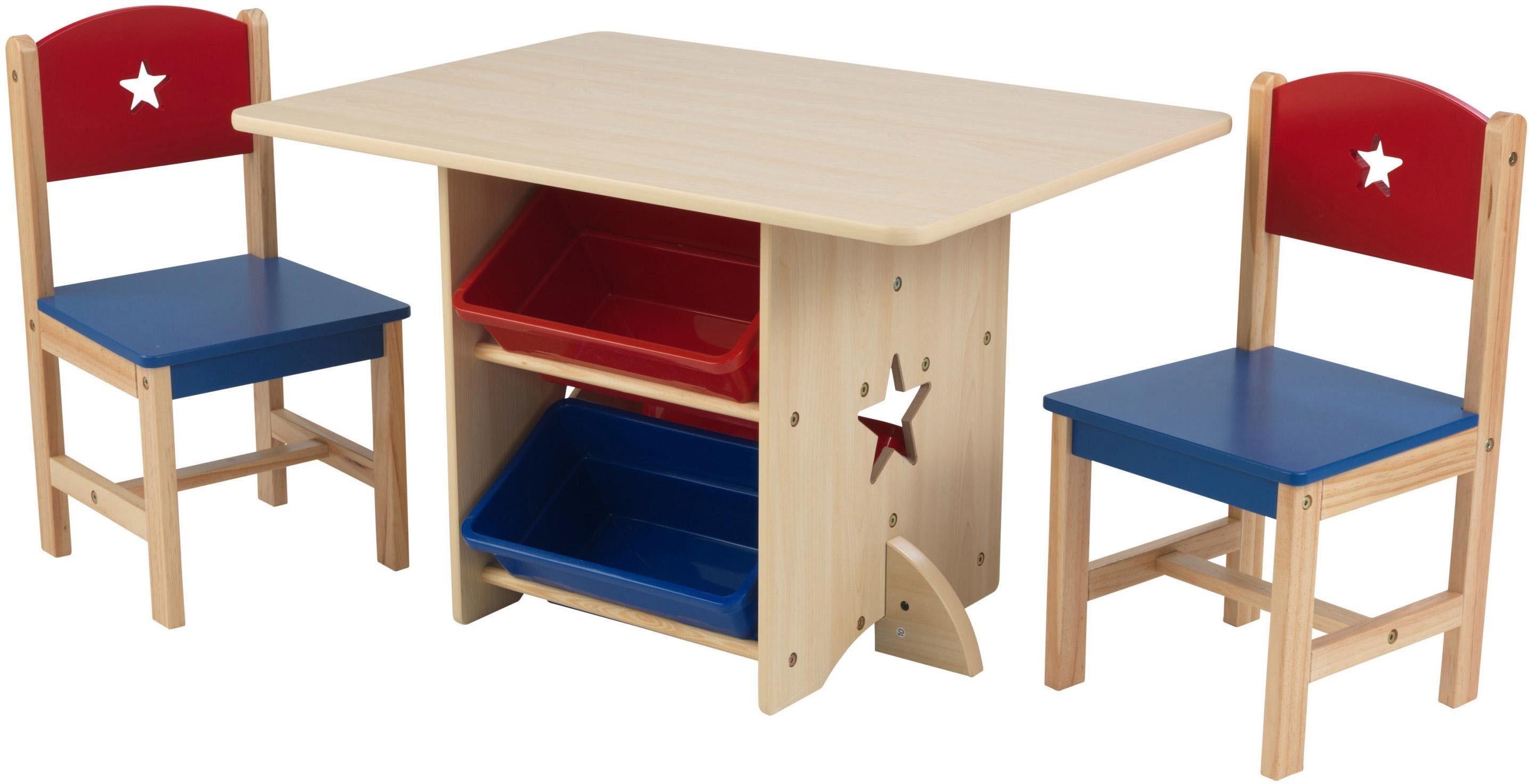 Kindersitzgruppe »Tisch und KidKraft® mit Aufbewahrungsboxen 2 tlgonline StühlenSternchen«3 kaufenOTTO zVMSUp