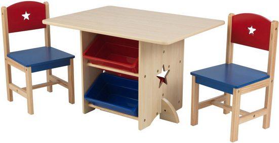 KidKraft Kindersitzgruppe Tisch Mit Aufbewahrungsboxen