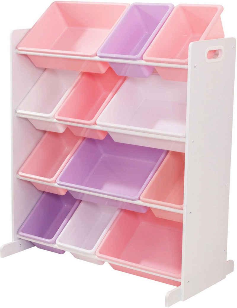 KidKraft® Regal »rosa/flieder/weiß«, mit Aufbewahrungsboxen