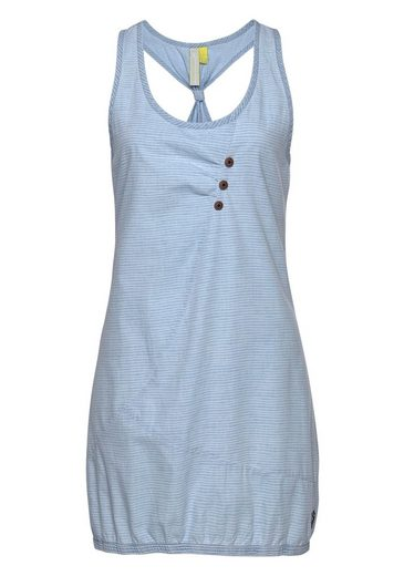 alife and kickin Jeanskleid »CAMERON A« hochwertiges Kleid mit modischem Ringerrücken und Streifen
