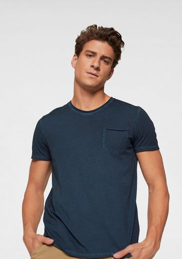 Marc O'Polo T-Shirt Garment Dyed- Optik, lässige Rollsäume
