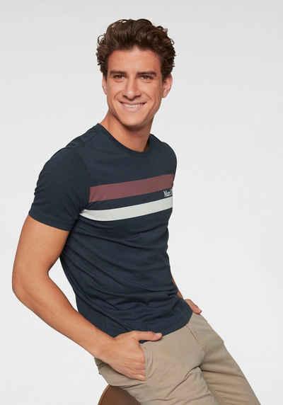 204b7247d6 Marc O'Polo T-Shirt Streifendesign mit Markenschriftzug