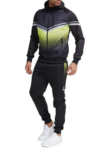 Egomaxx Trainingsanzug »3582«, Herren Slim Fit Trainingsanzug Casual Basic Streetwear Sportanzug