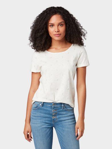 TOM TAILOR T-Shirt »T-Shirt mit Ananas-Print«