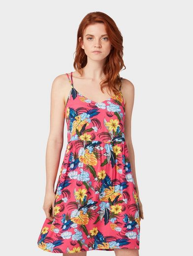 TOM TAILOR Denim Sommerkleid »Kleid mit Tropen-Muster«