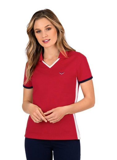 Trigema Poloshirt mit farbigen Einsätzen