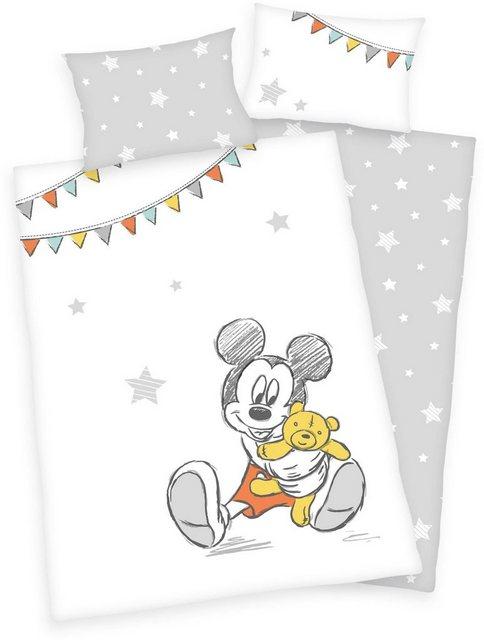 Babybettwäsche »Disney´s Mickey Mouse«, Walt Disney, mit Mickey und Sternen | Kinderzimmer > Textilien für Kinder > Kinderbettwäsche | Baumwolle | Walt Disney