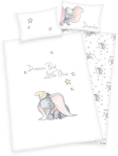 Babybettwäsche »Disney´s Dumbo«, Walt Disney, mit Sternen und feinem Motiv | Kinderzimmer > Textilien für Kinder > Kinderbettwäsche | Baumwolle | Walt Disney