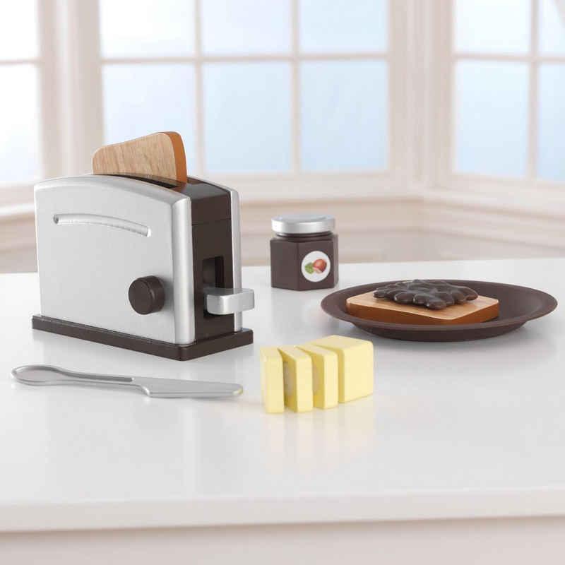 KidKraft® Kinder-Toaster »Toaster-Set (11tlg)«, (Set, 11-tlg), mit beweglichen Toastergriff