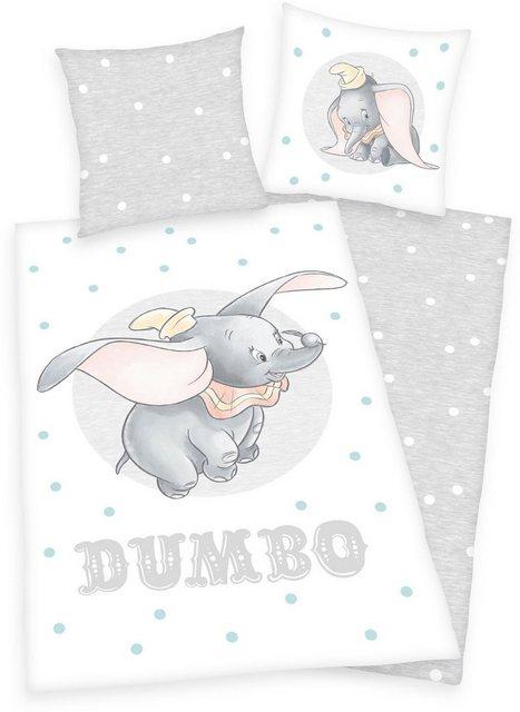 Kinderbettwäsche »Disney´s Dumbo«, Walt Disney, mit Punkten und Elefantenmotiv | Kinderzimmer > Textilien für Kinder > Kinderbettwäsche | Baumwolle | Walt Disney