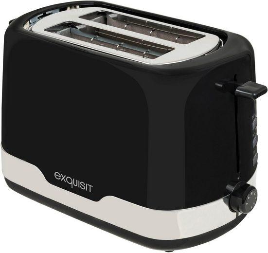 exquisit Toaster TA 6101 swi, 2 kurze Schlitze, 850 W