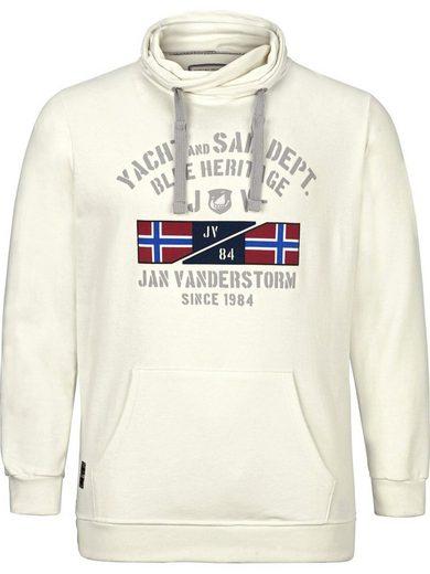 Jan Vanderstorm Свитшот »FAPI« mit plaktivem Druck im Zentrum
