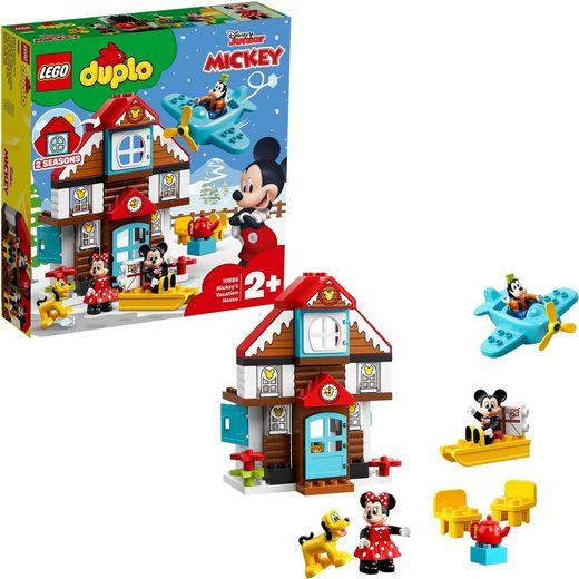 LEGO® Konstruktionsspielsteine »Mickys Ferienhaus«, (57 St)