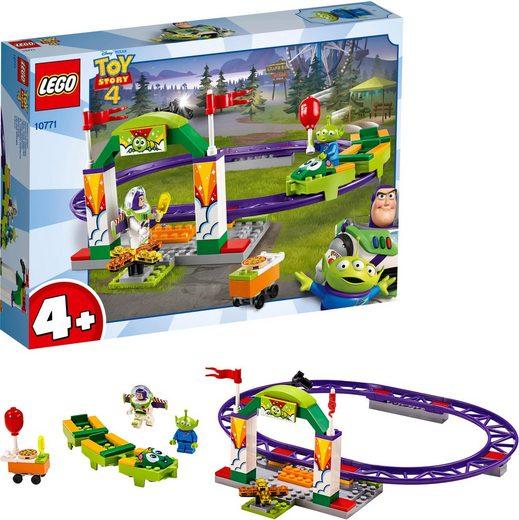 LEGO® Konstruktionsspielsteine »Buzz wilde Achterbahnfahrt (10771), LEGO® Juniors«, (98 St)